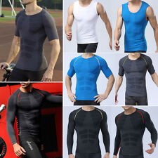 Mens Compression Shirt Base Layer Top Tight T-shirts Undershirt Sportswear Tee