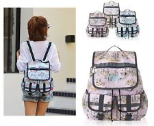 New Women backpack School Canvas Rucksack Campus Girls Bookbag Cute Bag