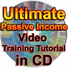 Ultimate Passive Income Video Audio eBook Training Tutorial Lessons How To in CD