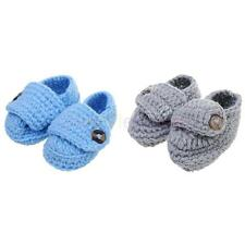 Baby Infant Toddler Crib Shoes Boy Girl Winter Soft Sole Crochet Knit Prewalkers