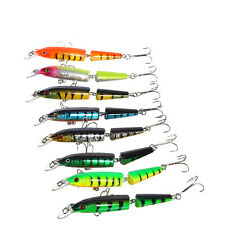 9.6cm Multi-jointed Minnow Fishing Lures Swimbait Bass Crank Bait Tackle Hooks