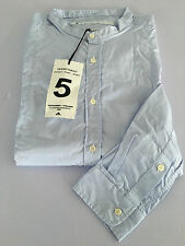 DEPARTMENT 5 men's shirts neck korean righe baby blue/white MADE IN ITALY