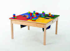 """LEGO® TABLE w/ HD Wood Frame 32""""x 32"""" with two Storage Bags-MADE IN USA-NEW!"""