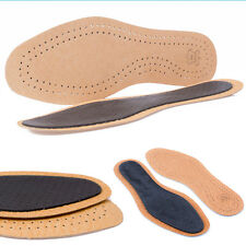 4 Pairs Real Leather Shoefresh Super Soft Insoles for Men and Women Size 3,5-12