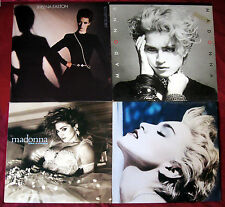 4-LP Lot MADONNA Like A Virgin 1st s/t True Blue SHEENA EASTON Best Kept Secret