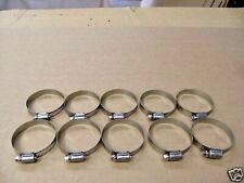 WORM DRIVE HOSE CLAMPS Pack of 10 STAINLESS STEEL 57mm to 76mm Made in Taiwan