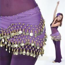 Chiffon Silver Wear Ladies Hip Skirt Coins New Rows Scarf Belt Belly Dance