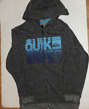 New QUIKSILVER HOODIE JACKET 7 YEARS 18 years GREY BOYS jacket