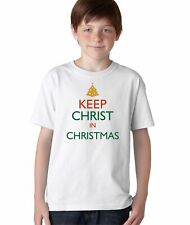 Aprojes Keep Christ in Christmas Jesus Christian Tee T-Shirt for Kids