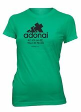 AproJes Adonai All Things Possible God Bible Christian T-Shirt for Juniors