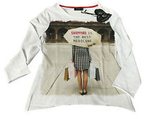 LAFTY LIE t- shirt woman long sleeve 95%cotton 5% elastane MADE IN ITALY