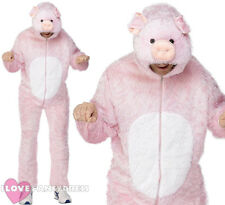 ADULT PIG COSTUME MENS LADIES FARM ANIMAL FANCY DRESS TEACHER SCHOOL BOOK WEEK