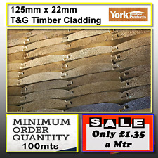 Timber Cladding Tanalised 125mmx22mm Log lap barrel Board.-100m min 4 delivery