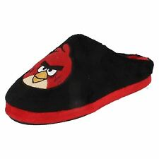 Boys Angry Birds Black/Red Novelty Slippers Style OBMULE