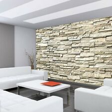 """Fleece Photo Wallpaper """"Noble Stone wall - beige - ENDLESS - stacking"""" ! Tap"""