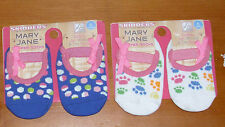 2 Pairs of SKIDDERS TODDLER GIRL MARY JANE GRIPPER SOCKS * Size 6 mos * Safety