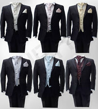 Boys Formal Fitted Wedding Black Suits Pageboy Party Prom Kids Waistcoat Suit