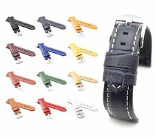 BOB Alligator Style Watch Band/Strap for Panerai, 22/20 mm, 12 colors, new!