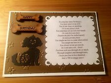 Hand Made Birthday Cards From The Cat Or Dog With Funny Verse
