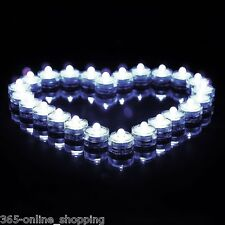 12x Submersible White LED Tea Lights Candles Battery Operated Wedding Home Vase