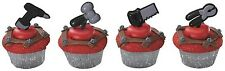 Tools Cupcake Topper Picks - Set of 12 (Hammer, Drill, Wrench)