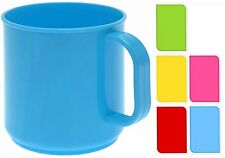 Plastic Cocoa Coffee Mug Camping Children Plastic Drink Cup Handle Colours