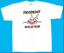 Trident Dive Team Angry Shark T-shirt - Scuba Diving - White