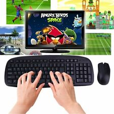2.4GHZ Wireless Combo Set 1600DPI Computer PC Gaming Mouse + Keyboard Set lot F5