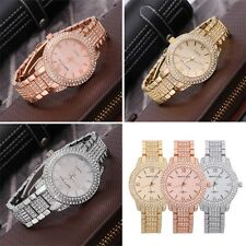 Women Men Round Dial Roman Numerals Quartz Metal Band Wrist Watch 6008 O6