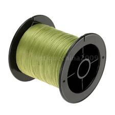 100M Multifilament Polyethylene Braided Army Green Fishing Line 6LB to 60LB U5L9