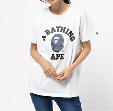 A BATHING APE COLOR CAMO COLLEGE TEE 5 colors BAPE Womens T-shirt New From Japan