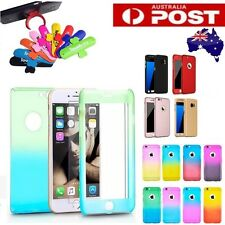 360 Full Body Protective Hard Back Case + Tempered Glass for iPhone 6 7 Samsung