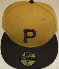 New Era Authentic On Field Pittsburgh Pirates Fitted Hat Mustard Yellow-