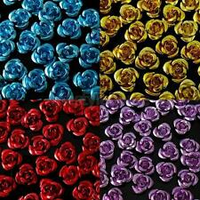 Wholesale 50/100/200pcs Aluminum Rose Flower Metal Bead Space Bead 8mm DIY Craft