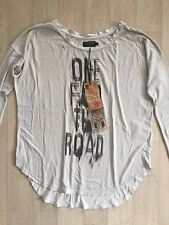 RUDE RIDERS TEE SHIRT SZ S, M, L DIRTY WHITE OVER SIZE LOOSE TOP NWT LAST ONES