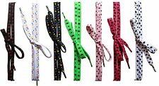 ACCLAIM Laces Flat Sport Trainer Shoe Boot Stars Double Thick Multicolured Laces