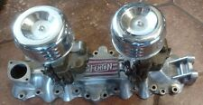 Vintage Fenton flathead V8 2x2 intake hot rod Stromberg Holley Ford orig carbs