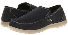 CROCS 10128-062 SANTA CRUZ Men's (M) Black/Khaki Canvas Slip-On Loafer