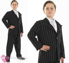 BOYS 1920'S GANGSTER COSTUME CHILDS ZOOT SUIT FANCY DRESS THEATRE STAGE SHOW
