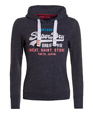 New Womens Superdry Sweat Shirt Store Hoodie Imperial Navy Snowy