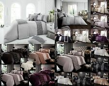 NEW Luxury Duvet Cover Sets With Pillow Cases King Size Double Single Super Bed