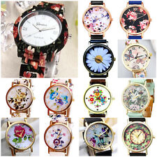 Ladies Flowers selection Quartz Analog Wristwatch Watch NEW