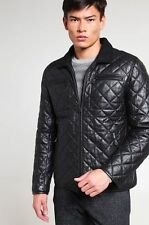 Men Quilted Black Real Genuine Leather Jacket all Sizes