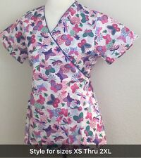Bug's Life Over White Med Hospital Nurse Uniform 3XL 4XL 5XL Print Scrub BM877