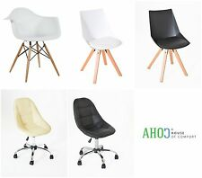 Modern Cushioned Chair Furniture Retro Dining Office Desk Chairs Armchair Lounge