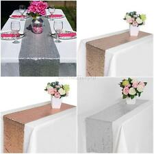 """11.81"""" x 108.27"""" Sequin Table Runners Sparkle Glitter Wedding Party Decorations"""