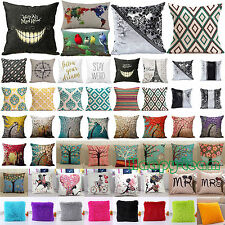 18*18'' Cotton Linen Cushion Cover Bed Sofa Pillowcase Home Decor Pillow Cases