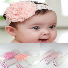 Cozy Girl Toddler Hairband Infant Kid  Headdress Big Flower Lace Bow Accessories