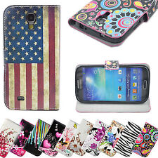 Luxury Stand PU Leather Wallet Flip Skin Case Cover For Samsung Galaxy S4 I9500