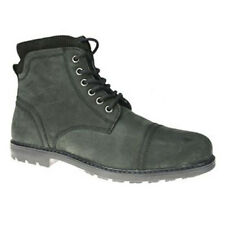 Red Tape Hurley Black Lace up Chelsea, Ankle Boots Zip Leather Mens